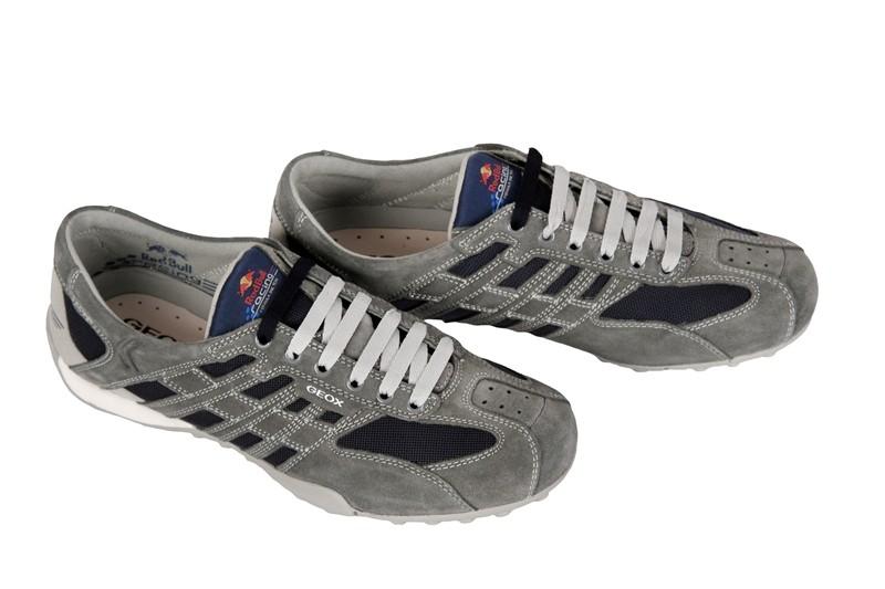 Geox Snake Red Bull Schuhe grau blau U11B9A