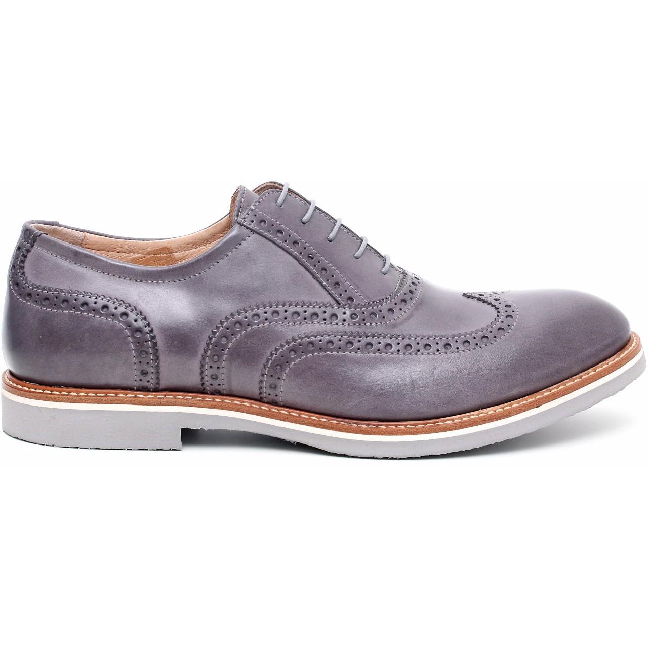 Nero giardini scarpa stringata uomo pelle p503382u latini sport - Polacchine uomo nero giardini ...
