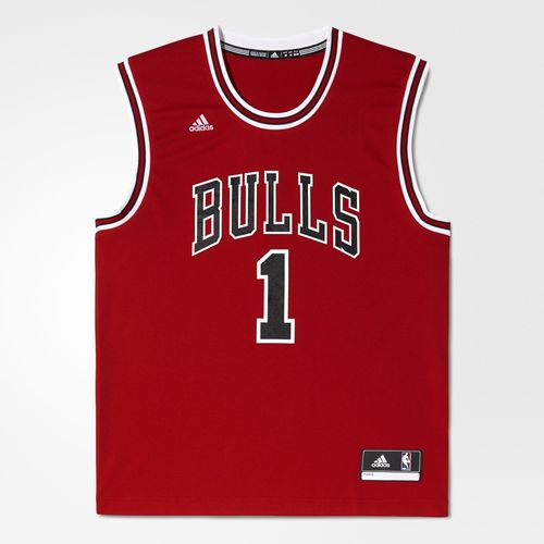 Adidas maglia home replica derrick rose nba chicago bulls for Nba basketball t shirts