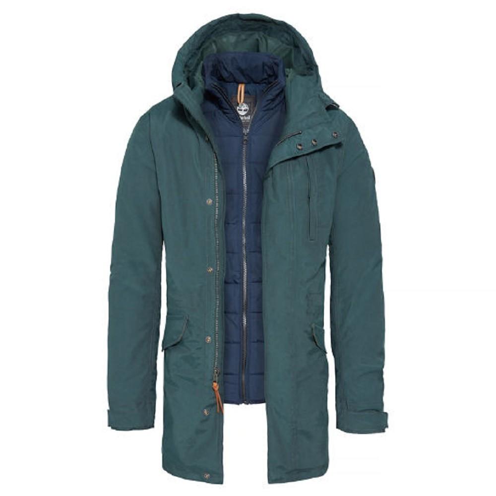 Timberland SNOWDON PEAK PARKA VERDE UOMO A1NWG317 - Latini Sport b9a74433325