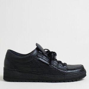 Mephisto-scarpa-allacciata-Rainbow-pelle-nera – Copia